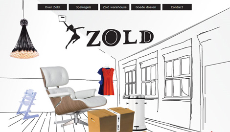 Screenshot van de Zold website